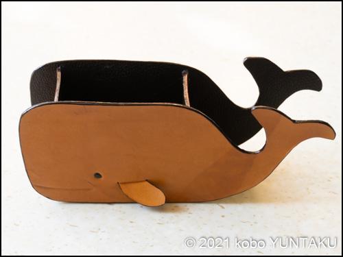 マッコウクジラの小物入れ(仕上げ)